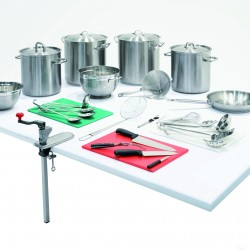 Pots, Pans, Preparation Equipment and Serving Utensils